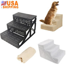 3 Steps Dog Cat Soft Portable Stairs Padded Non Slip Portable Pet Step Stairs Us