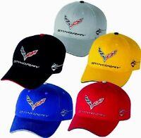 MEN'S CORVETTE C7 HAT/CAP C7 STINGRAY VELOCITY YELLOW,TORCH RED,LAGUNA BLUE NEW
