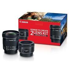 Canon Portrait  Travel 2 Lens Kit w/EF 50mm f/1.8 STM  EF-S 10-18mm f/4.5-5.6