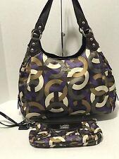 Coach Madison 14420 Scarf Print Op Art Chainlink Maggie Shoulder Bag & Wallet