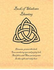 Book of Shadows Blessing Page on Parchment with Triquetra
