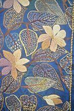 Striking Antique 19Th Century Embroidered Silk Textile Tt53