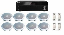 HOME AUDIO SOUND SYSTEM- FLUSH IN-CEILING SPEAKERS & VOL CONTROLS FOR 4+ ROOMS