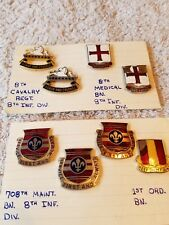 8 Vintage 8th Cavalry Regiment Military Pins