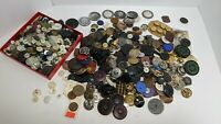 2 1/2+ Lb Pound Vintage Metal Bakelite MOP Brass Plastic Large Small Buttons