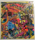 """2003 Joe Grillo Dearraindrop SIGNED  Mixed Media Collage on Bookcover 7.5"""" x 8.5"""