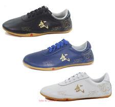Adult Kid Leather Martial Art Karate Taekwondo Shoes Tai Chi Boxing Trainer Shoe
