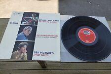 Jacqueline Du Pre Elgar Cello Concerto HMV Stereo ASD 655 UK LP