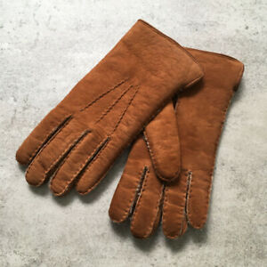 Polo Ralph Lauren GENUINE LEATHER GLOVES BROWN MADE  IN ITALY SIZE  9 1/2