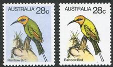Decimal Issues - 1980 (SG.735 variety) 28c Rainbow Bird with variety BW:816ca