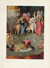 """1971 Vintage HIERONYMUS BOSCH """"TEMPTATIONS OF SAINT ANTHONY"""" #5 COLOR Lithograph"""