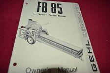 Gehl FB 85 Forage Blower Operator's Manual BVPA