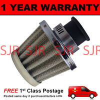 18mm MINI AIR OIL VENT VALVE BREATHER FILTER FITS MOST CARS SILVER CONE