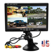 """7"""" Quad Split Rear View Monitor Windshield Car Backup Kit Home Security Screen"""