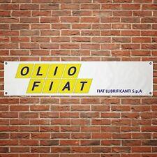 Olio Fiat Banner Garage Workshop PVC Sign Trackside Motorsport Car Display