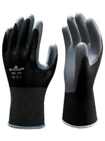 SHOWA ATLAS FIT 370 SIZE SMALL BLACK NITRILE WORK GLOVES, 1 DOZEN