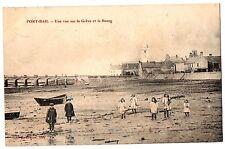 CPA 50 - PORT-BAIL (Manche) - Une vue sur la Grève et le Bourg (petite animation