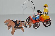 Playmobil Chariot 3587 Voyageuse Valise Cowboy Western Vintage