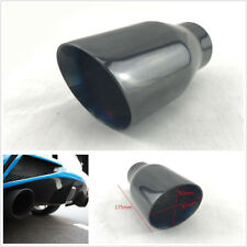 "1x Universal Stainless Steel 2.5"" Inlet Angled Car Exhaust Muffler Tail Pipe Tip"