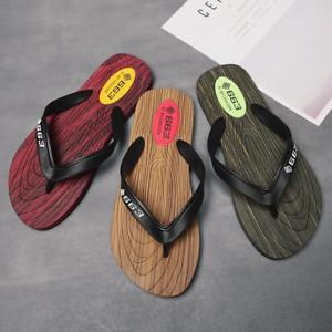Men Soft PVC Flat Flip Flops Indoor Outdoor Non-Slip Slipper Summer Casual Shoes