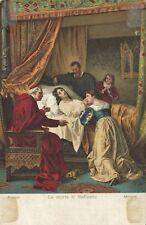 2392-LA MORTE DI RAFFAELLO, FIRENZE, MORGARI, DA FONDO-TRENTO, 1908