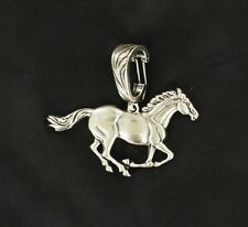 Rodeo Cowgirl ~RUNNING HORSE~ Western Pendant Silver