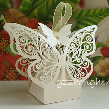 1-100PCS Wedding Favours Luxury Wedding Sweets Favour Boxes Big Butterfly NEW