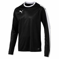 Puma Mens Sports Football Soccer Jersey Shirt Long Sleeve Crew/Round Neck Top
