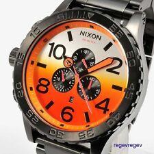 New Nixon Watch 51-30 Chrono ALL BLACK SUNRISE A083-580 A083580 NWT BOX