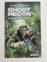 Notice Playstation 2 PS2 VF Ghost Recon Jungle Storm  Envoi rapide et suivi