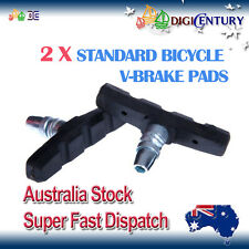 2 X STANDARD Bicycle V-BRAKE PADS for Hybrid / Comfort / Mountain Bikes