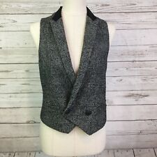 Rag & Bone vest sz. 6 textured moon wool alpaca blend lined