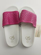 Bobbie Brooks Must Haves Girls Sandals Size L Pretty Summer Shoes Pink & White