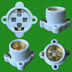 8x Glazed Ceramic Porcelain E27 Surface Mountable Heat Lamp Light Bulb Holder