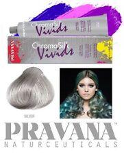 Haartönung PRAVANA CHROMA SILK Vivids 90ml Tube SILBER GRAU SILVER Haarfarbe
