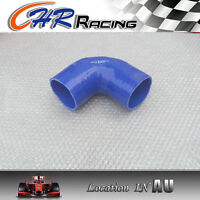 """Blue Silicone 90° degree Elbow hose 76mm 3"""" ID INTAKE TURBO INTERCOOLER PIPE"""