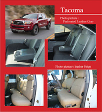 2009-2011 Toyota tacoma double cab front sport seat clazzio Black leather cover