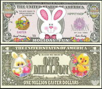 Lot of 25 BILLS - EASTER BUNNY / HOLIDAY FUN MILLION DOLLAR NOVELTY BILL