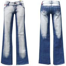 Denim Girls blue jeans w28-gr.36 bootcut pantalones golpe señora Teens chica nº 8