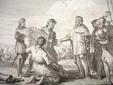 GRAVURE XVIIIe / CANAL POUR LA JONCTION DE L'OCÉAN AVEC LA MER NOIRE AN 793