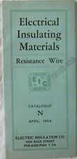 Electrical Insulating Materials Resistance Wire Catalogue N 1954