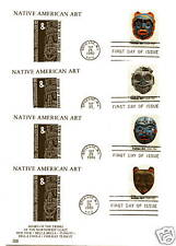 1834-37 Indian Masks Four Glen FDCs