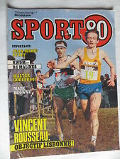 Sport 80 n°9 – 27 février 1985 – Jean Marie Pfaff, Walter Godefroot, Marc Browne