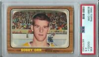 1966 TOPPS BOBBY ORR ROOKIE CARD RC #35 BRUINS GREAT CENTERING HOT PSA 2.5 NOT 3