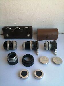 Bolex/Kern Paillard, Yvar & Pizar Lenses, Lens Hoods/caps Etc-VGC!
