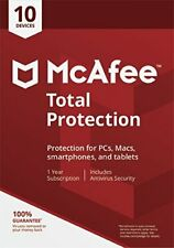 McAfee 2018 Total Protection 1 Year 10 USER/PC Multi Device Internet Security