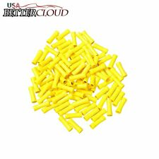 100Pcs Yellow Vinyl Fully Insulated Copper Wire Butt Connectors 12-10 Gauge
