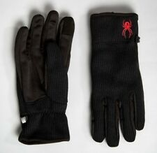 Spyder Men's Black Stryke Fleece Conduct Gloves. Size Medium