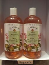 Crabtree & Evelyn Sweet Almond Oil BATH & SHOWER GEL LOT x 2 RARE Scent