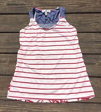 French Laundry RedWhite Blue Sleeveless Cami Tank Stripe Floral Hi-Lo Size Small